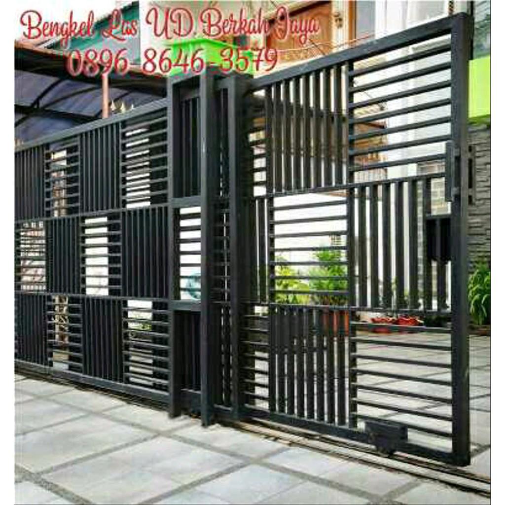 Unik Pintu Dorong Minimalis Pintu Lipat Minimalis Pintu Gerbang Teralis  Pengaman Pagar Besi Terlaris | Shopee Indonesia