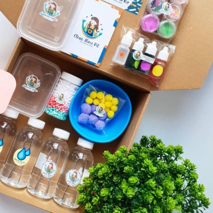 [READY] DIY Mega Clear Slime Kit by Landseries Slime| Bahan Slime .!