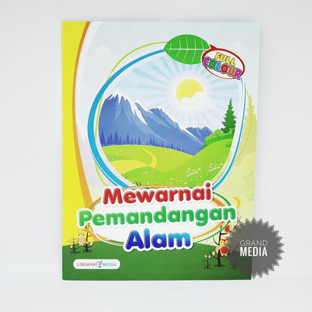 [GRAND MEDIA] BUKU MEWARNAI PEMANDANGAN ALAM FULL COLOUR