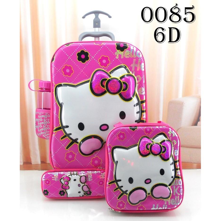 Tas Sekolah Anak Tk Sd Troli Trolley 3 Dimensi Motif My Little Pony 6d 4 In 1 0280 3d 0064 Shopee Indonesia