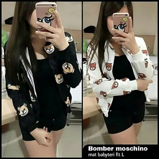 XC - Bomber Moschino   Jaket Wanita Bomber - B 6dc605d8ce