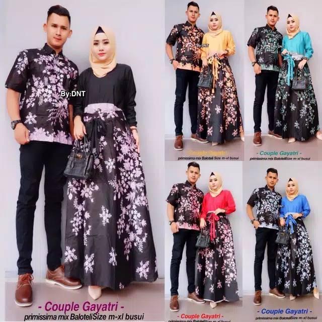 Batik Couple Multazam Princess Baju Pasangan Gamis Muslim Syari Termurah  41699e0e55