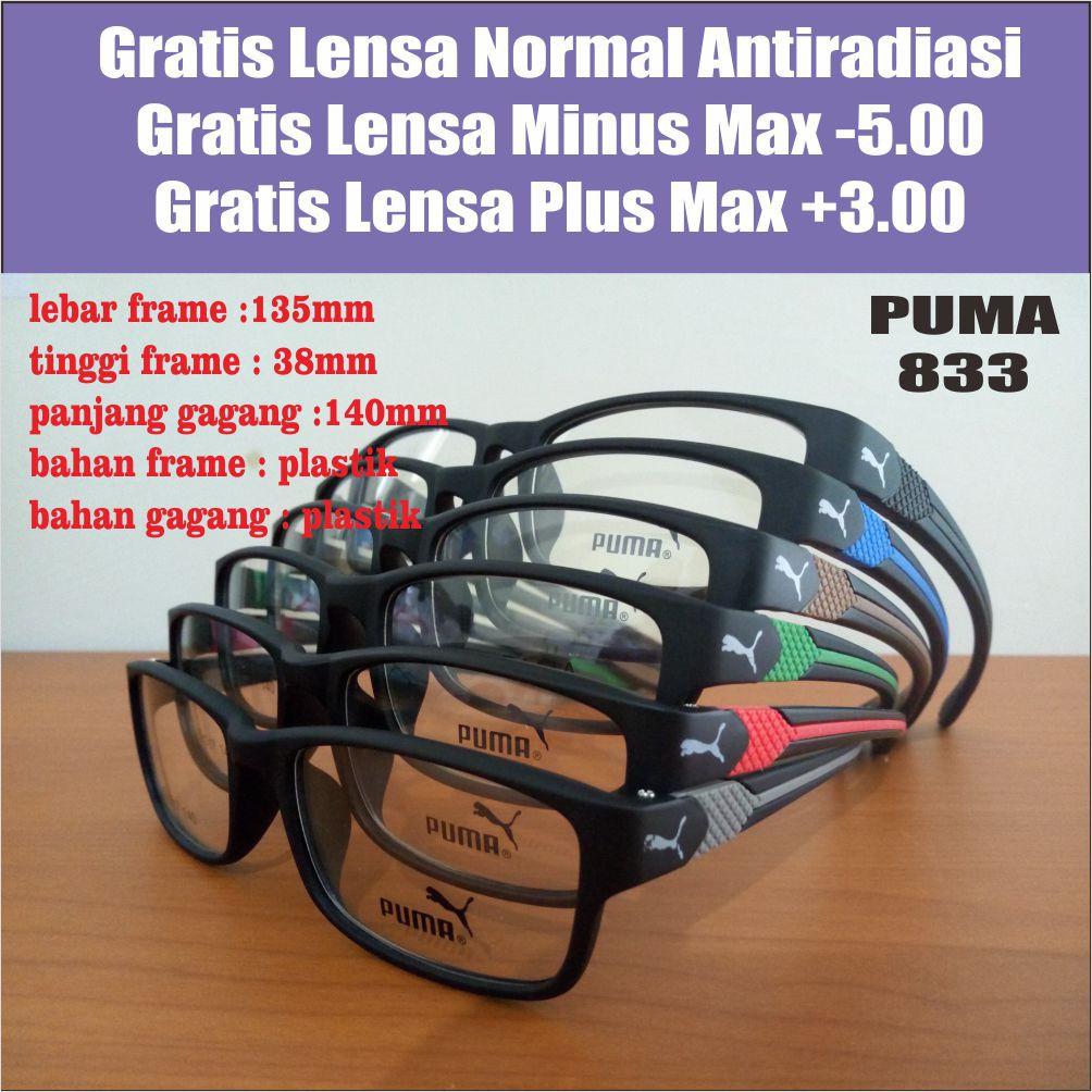 Kacamata Puma Sporty + Lensa Minus Antiradiasi e9833aa986