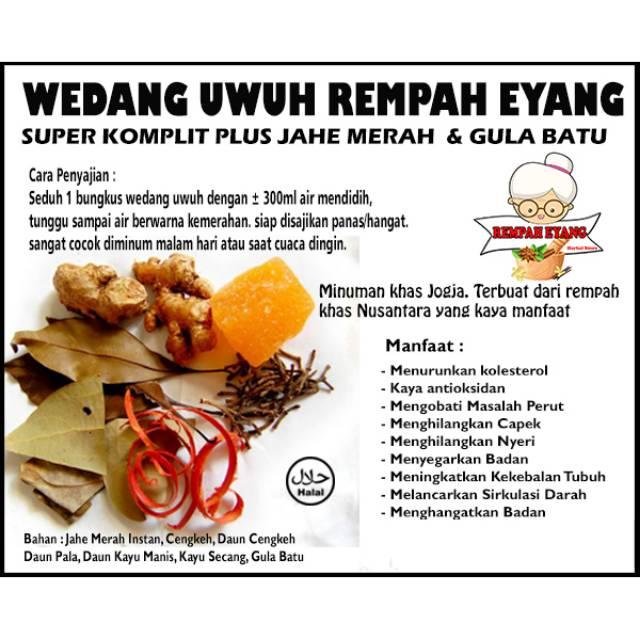 Covid 19 Wedang Uwuh Rempah Eyang Super Komplit Eceran Plus Jahe Merah Cengkeh Dan Gula Batu Shopee Indonesia