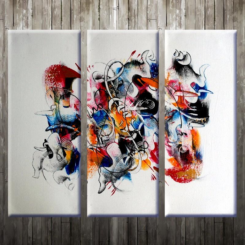 Lukisan Abstrak V3b Sho Indonesia