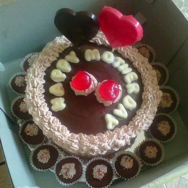 Kue Ulang Tahun Brownies Ukuran Kecil