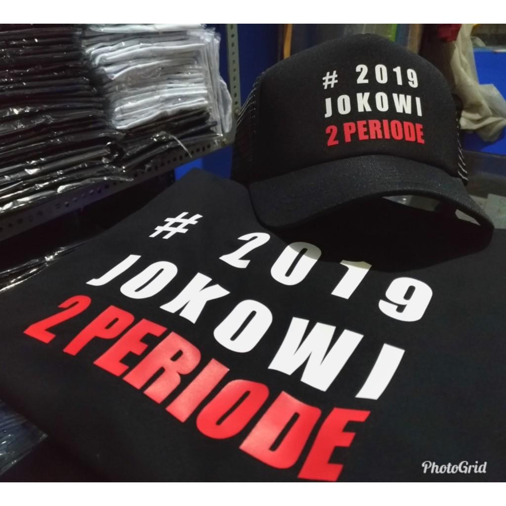 kaos 2019 jokowi 2 periode free topi  aeb1d97510