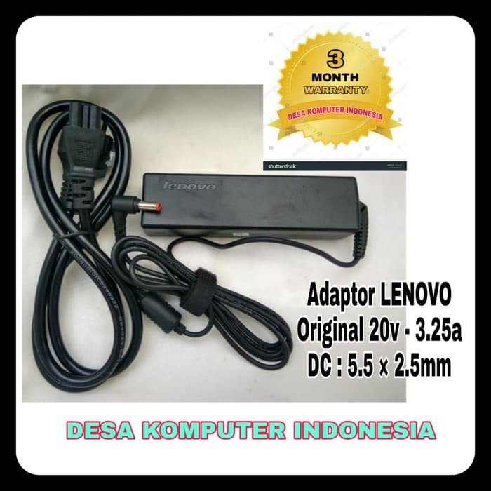 Adaptor Charger Laptop Lenovo Original B470 G460 G560 20v 3.25a STD