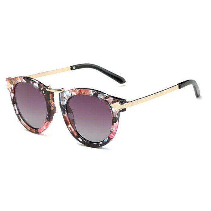 Tiaria Retro Sunglasses CJ15702-C2 Deep Grey Sunglasses Metal Frame Kacamata   Shopee Indonesia