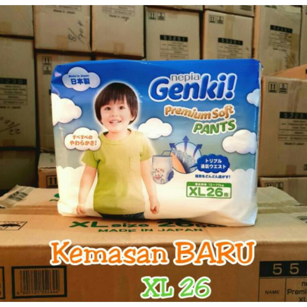 Nepia Genki Pants M32 L30 Xl26xxl18 Shopee Indonesia L 30