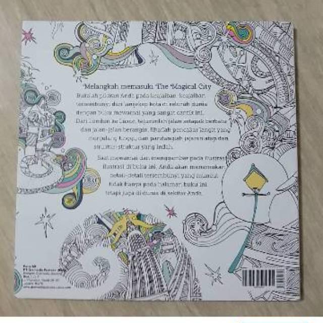 Gramedia Sale The Magical City Buku Mewarnai Segala Usia Dewasa Dan Anak Adult Coloring Book