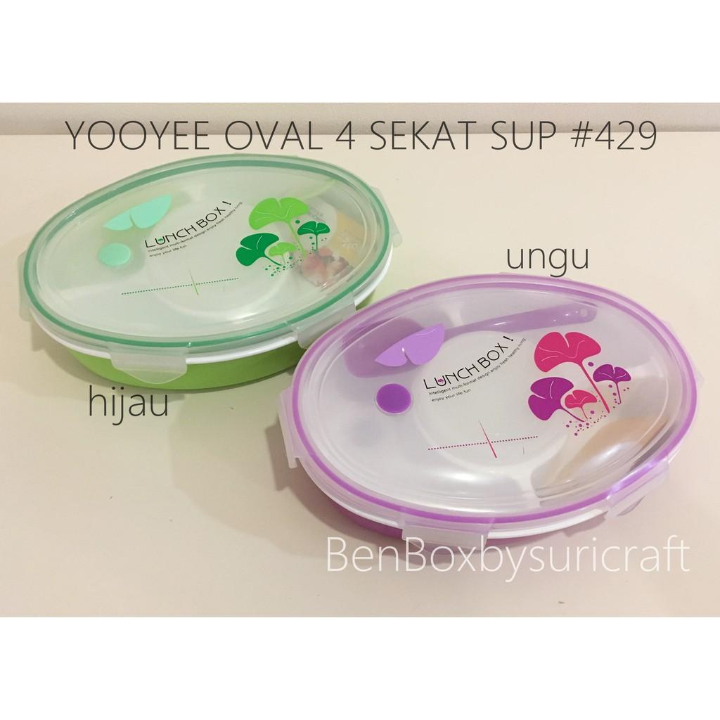 Yooyee 415 Lunch Box Kotak Makan 4 Sekat Dengan Sup Shopee Indonesia