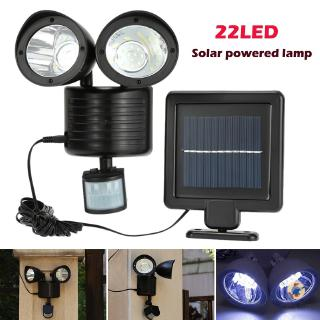Susie Solar Lights Outdoor 22 Led Wall Mounted Motion Sensor Light Double Heads Adjustable Path Lamp Shopee Indonesia