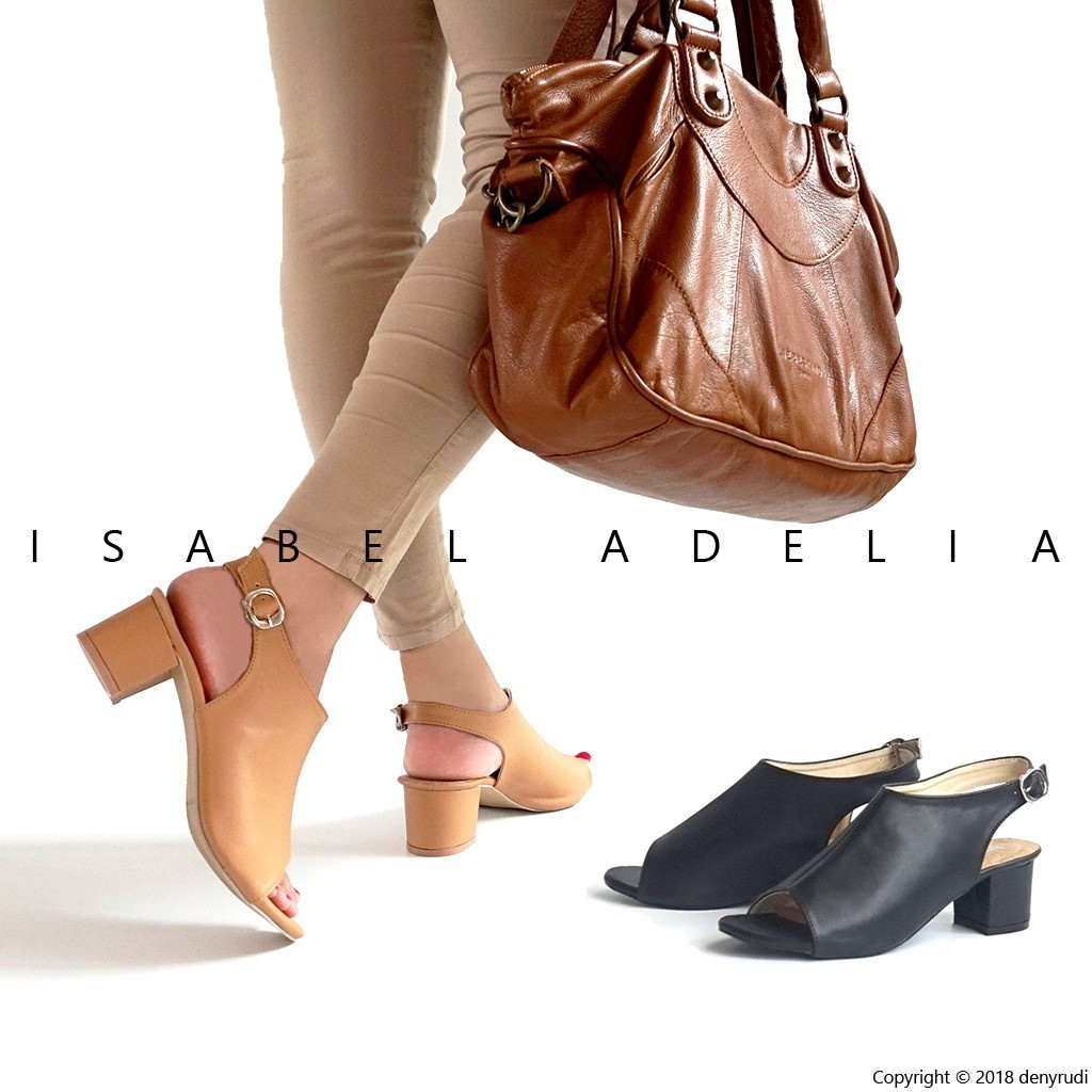 Isabel Adelia Selena Block Heels Wanita Hak Tahu Casualhitam Amazara Kendall Black Hitam 39 Coklat Shopee Indonesia