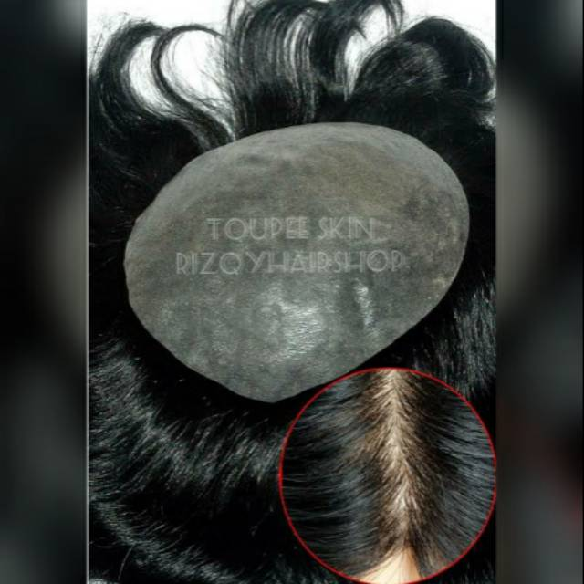 Toupee human hair toupee rambut asli wig toupee