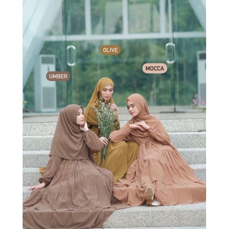 [Dress Muslim] GAMIS HAURA DRESS BY GERAI ALIYAH Gamis Wanita