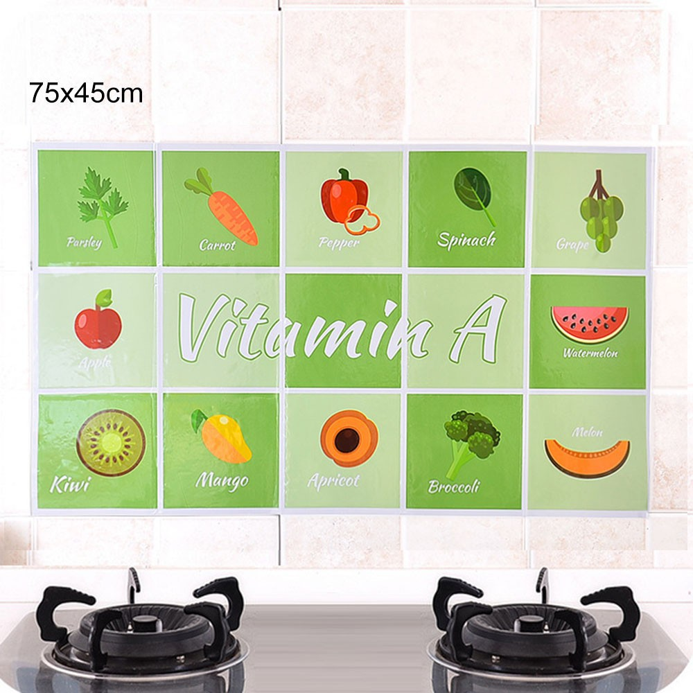 Our Home Kitchen Wall Sticker Waterproof Anti-Oil High Temperature Stickers | Shopee Indonesia