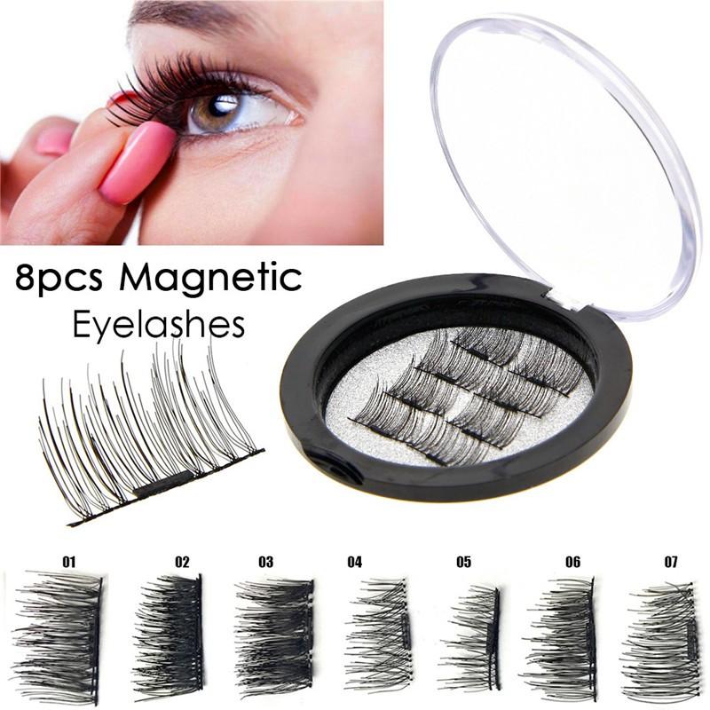 [Bayar Di Tempat]4Pcs Bulu Mata Palsu Magnetik 3D Natural Panjang | Shopee Indonesia