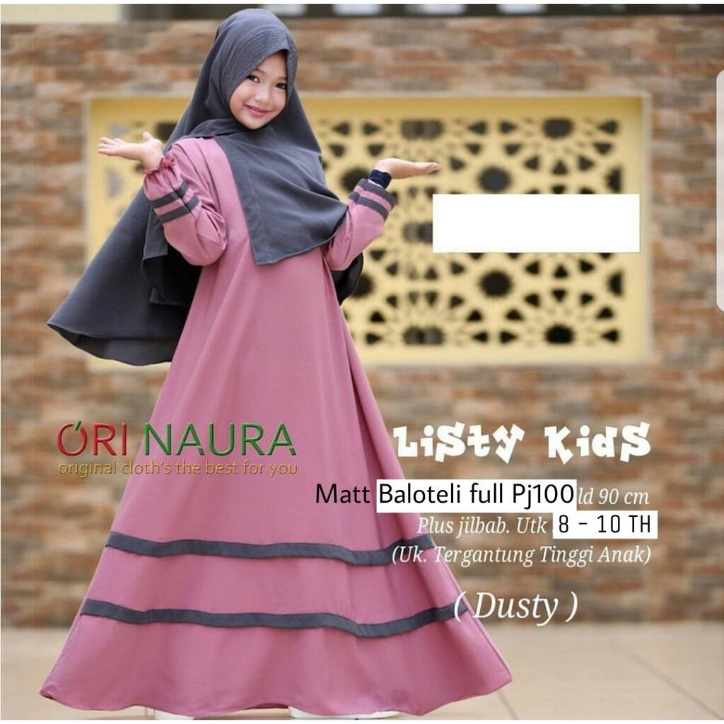 Baju Murah Gamis Anak Perempuan Haura Baju Muslim Murah List Gold Pita Emas Warna Hijau SPG | Shopee Indonesia