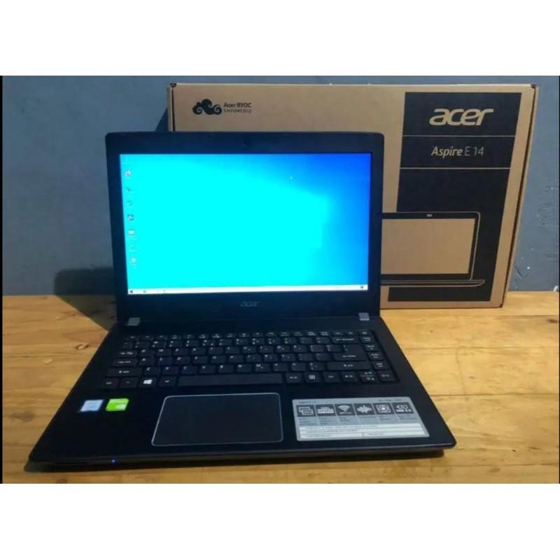 ACER E5-476G I5-8250U MX150 RAM 12GB SSD 256GB LAPTOP GAMING LAPTOP MURAH