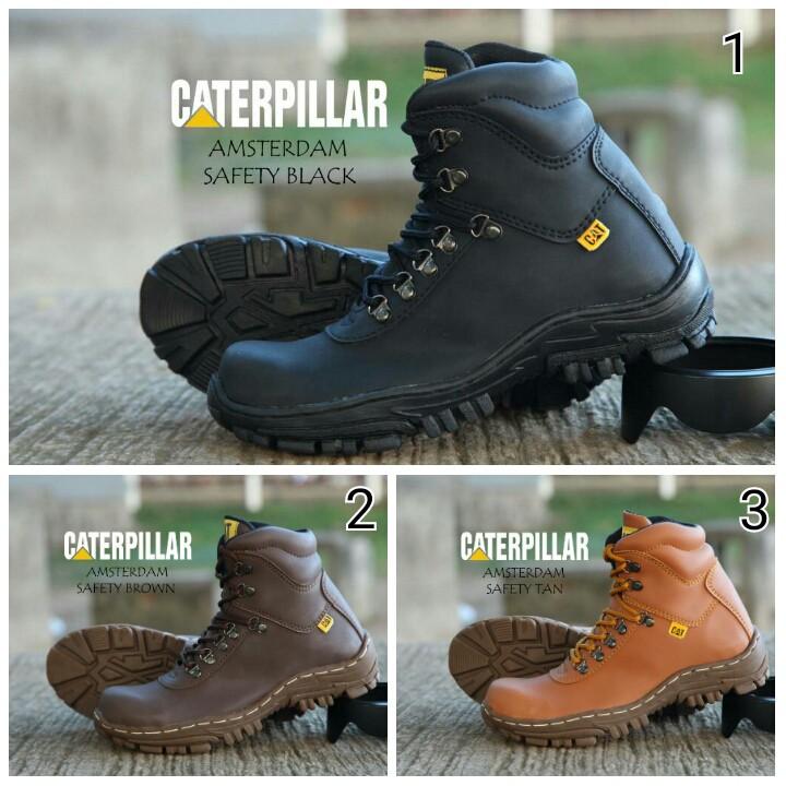 Sepatu Boots Caterpillar Amsterdam Safety Murah Promo  4bcdc98714