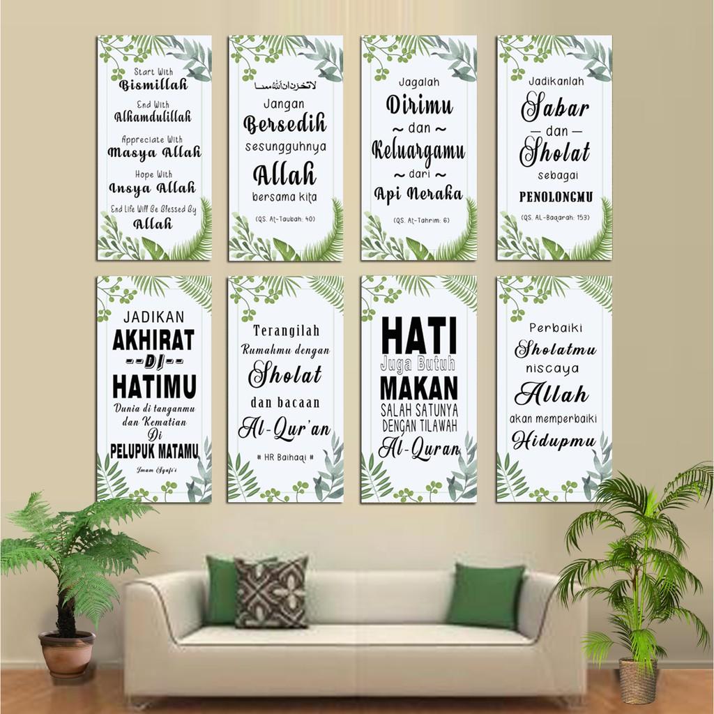 Hiasan Dinding Islami Poster Motivasi Islam Wall Decor Rumah Pajangan Dekorasi Kamar Shopee Indonesia