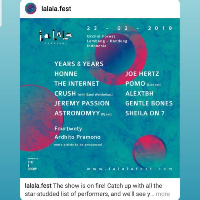 Tiket Lalala Fest 2019