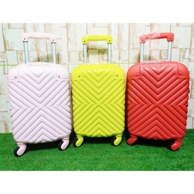 Koper 16 inch ukuran kabin-koper kecil-koper impor-koper anak– koper  kecil-koper fiber hardcase | Shopee Indonesia