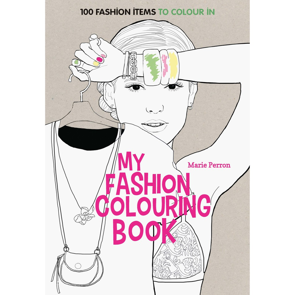 Cb13 Ahj Buku Mewarnai Dewasa Import My Fashion Colouring Book Milandrybutik