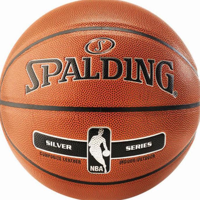 BOLA BASKET SPALDING NBA SILVER INDOOR/OUTDOOR   Olahraga   Basket   Bola Basket