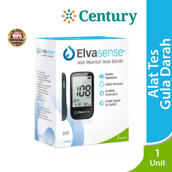 Elvassense Alat Monitor Gula Darah Voice / Alat Tes Gula Darah / Alat / Diabetes