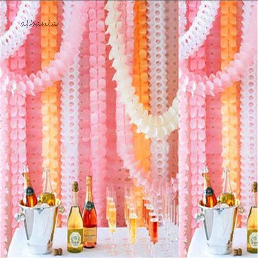 Hanging Four-Leaf Clover Paper Flowers Wedding Party Decor Paper Garland