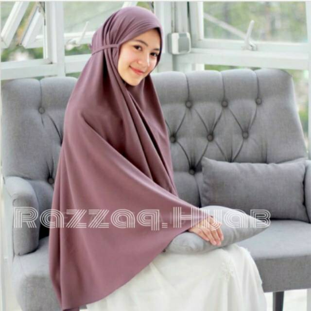 Bergo Maryam Diamond Jumbo Strech Shopee Indonesia