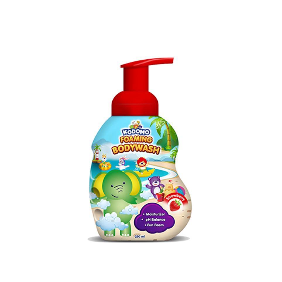 Kodomo Shampoo Foam Strawberry 250 ml + Kodomo Bodywash Foam Strawberry Botol 250 ml-2