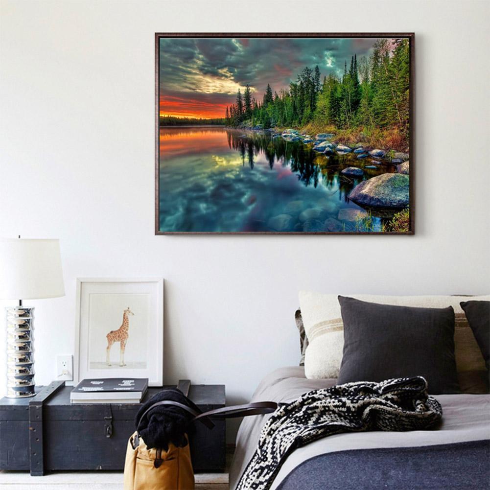 Diy Lukisan Diamond 5d Dengan Gambar Pemandangan Hutan Untuk