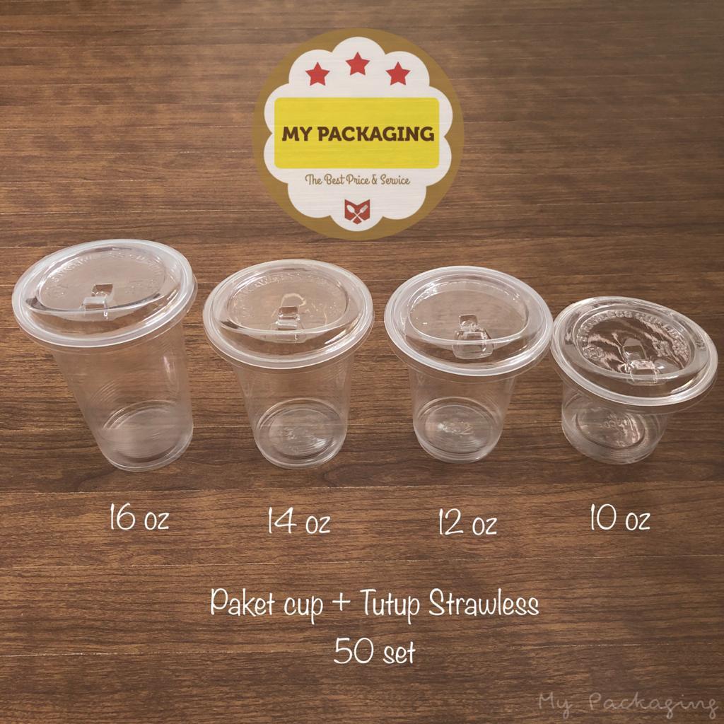 Paket Gelas Cup Plastik Oz Juice Kopi Teh Boba Ice Tutup 50set Shopee Indonesia
