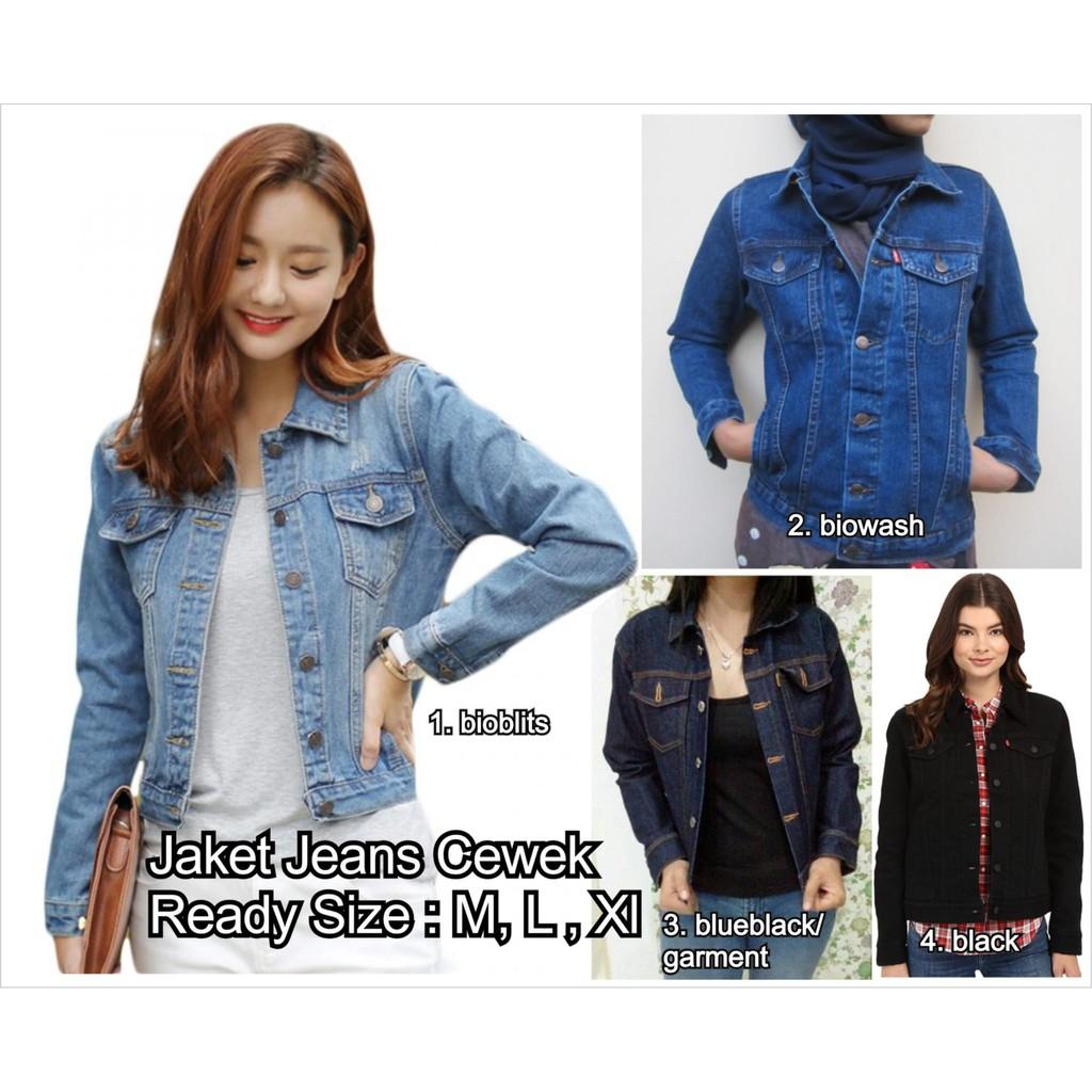 Jaket jeans denim inficlo wanita c5fe2d4734