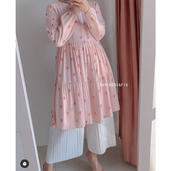 Cherry tunic butik chlaris