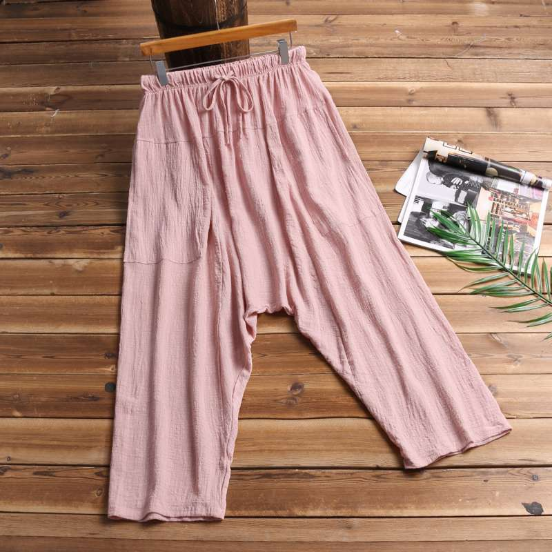 S M L PINK Stretchy Wide Leg Pants