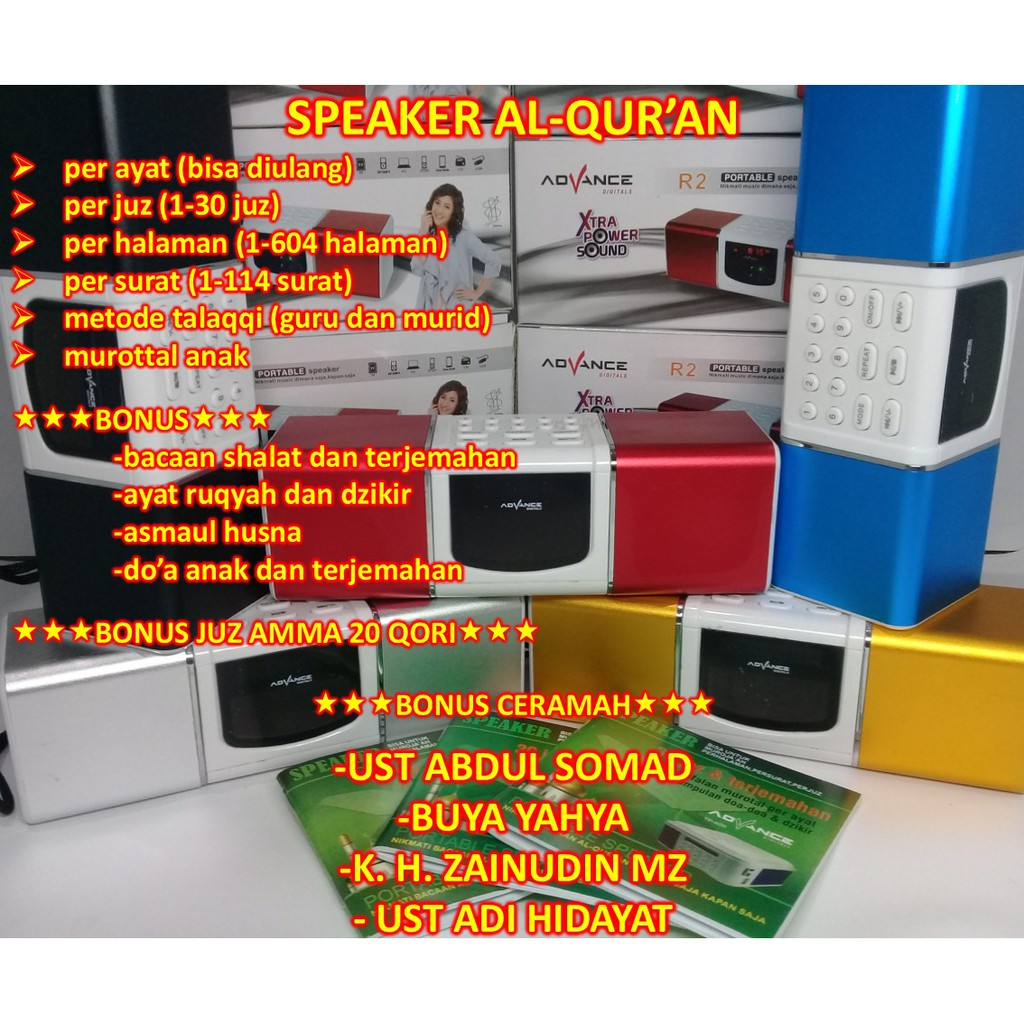 Speaker Digital Alquran 30juz Per Ayat Lengkap Advance Al Quran Portable Audio Murottal Hapalan Hafalan Surat Promo Shopee Indonesia