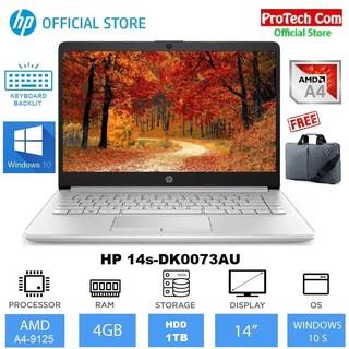 Laptop Hp 14s Dk0073au Amd A4 9125 4gb 1tb Amd Radeon R3 14 W10 Shopee Indonesia