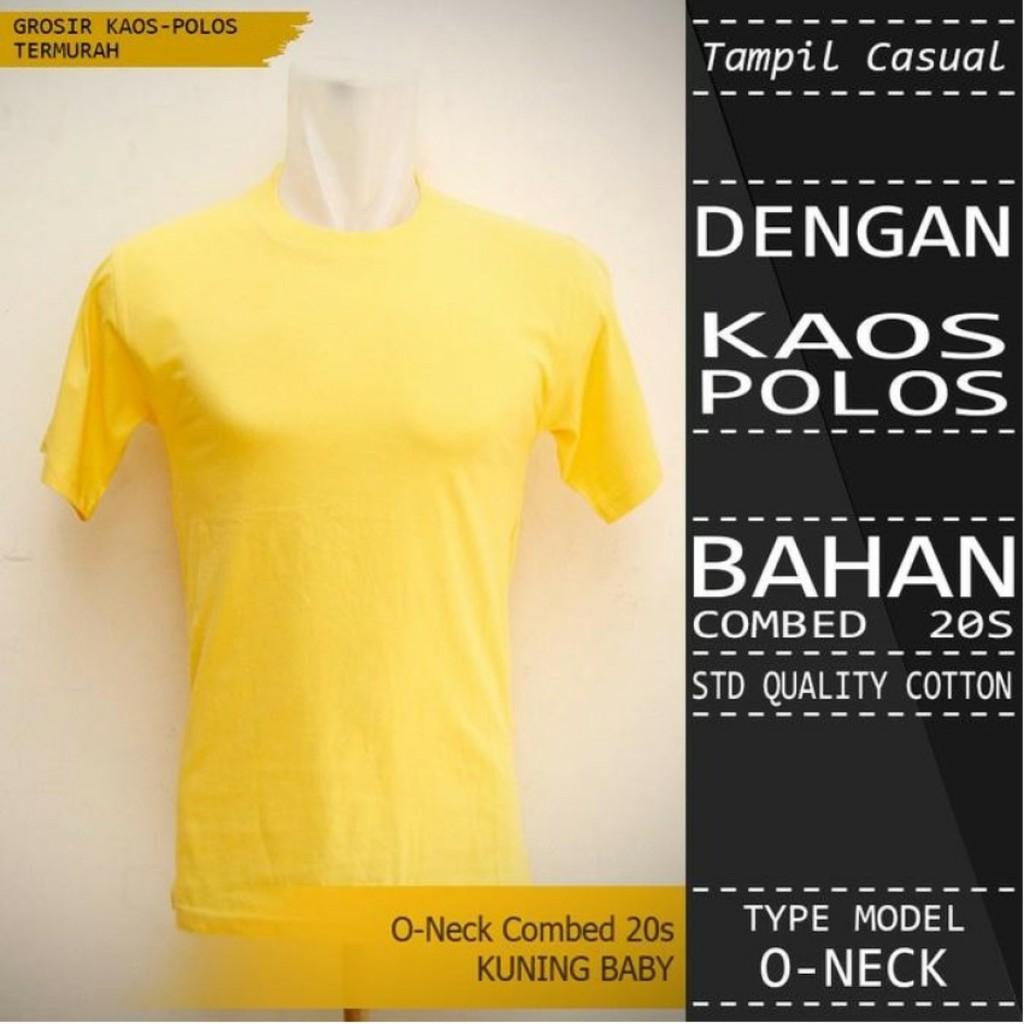 Kaos Polos Cotton Combed 20s T Shirt Oneck Unisex Baju Size Xl Lengan Panjang Pria Wanita Anak Dewasa Shopee Indonesia