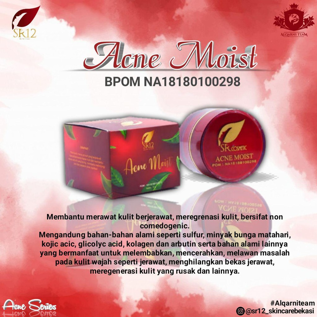 Sr12 Acne Moist Cream Shopee Indonesia