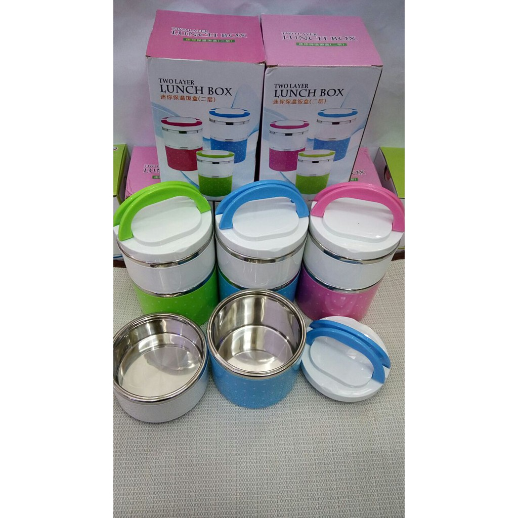 Rantang 3 Susun Stainless Steel / Eco Lunch Box Tempat Makan | Shopee Indonesia