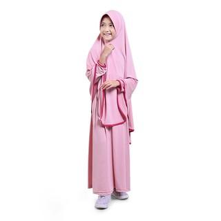 Baju Muslim Anak Perempuan Gamis Jersey Syar'i Panjang Murah - Salem JSS01