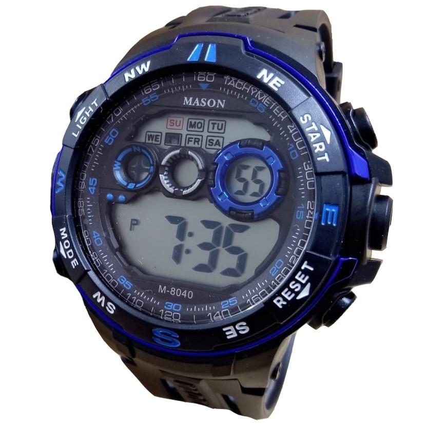 Mason 8040 - Jam Tangan Sport Pria dan Remaja Murah - Anti Air- Digital Mode f547b53381
