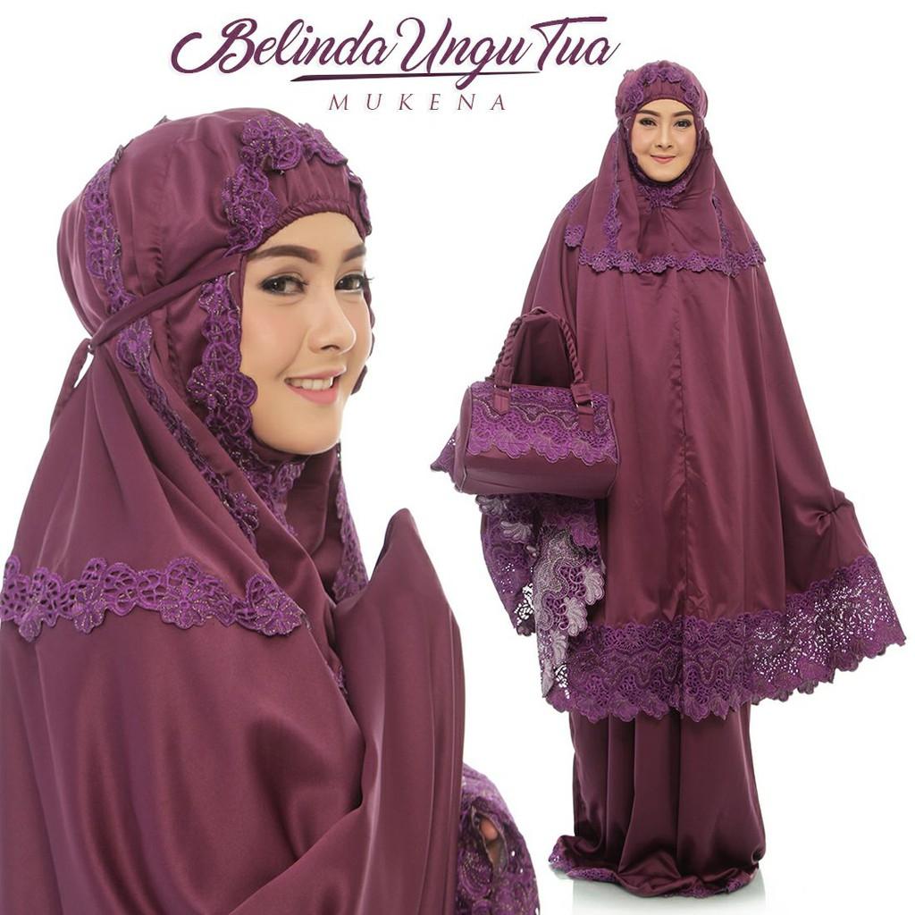 Mukena Dewasa Semi Sutra Velvet Lace Belinda Cantik Elegant Adem Telekung Sholat