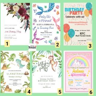 Undangan Ulang Tahun Sweet Seventeen Undangan Birthday Cetak Vocer Gift Undangan Murah Shopee Indonesia