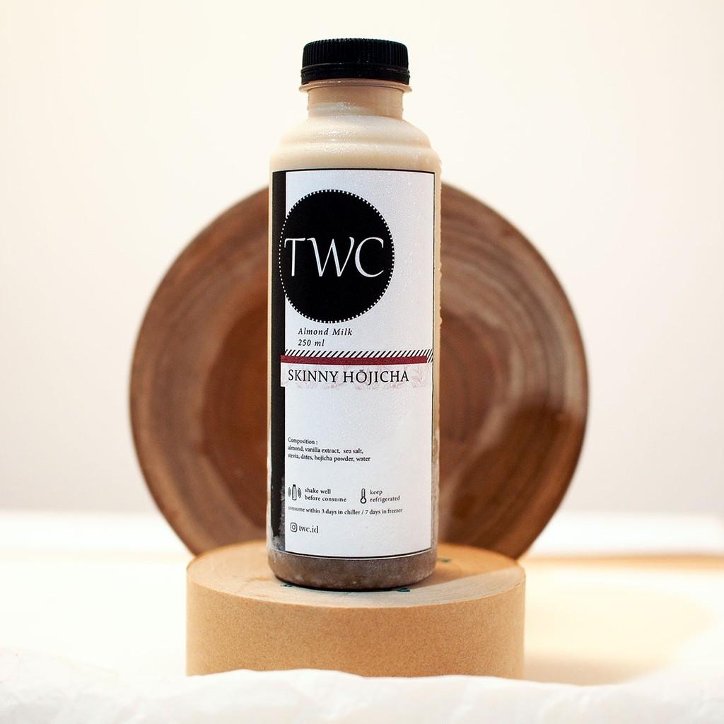 TWC Almond Milk Skinny Hojicha | Roasted Japanese Green Tea | 250 ML