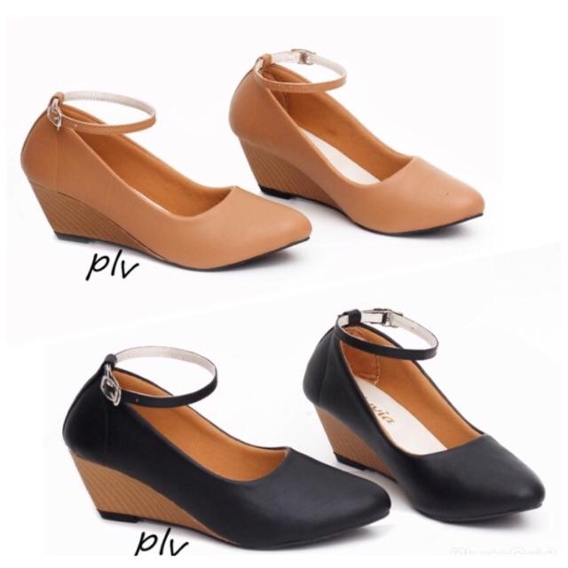 Flatshoes wanita gratica MI 01 - navy/ hitam/maroon/salem | Shopee Indonesia